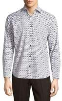 Jared Lang Scooter Cotton Button-Down Shirt
