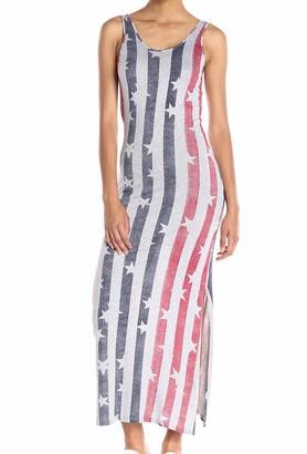 Alternative Women's Printed Modal Racer Midi Dress