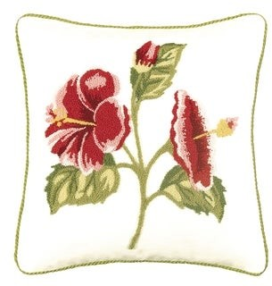 C&F Home Hibiscus Tufted 18 Inch Throw Decorative Accent Throw Pillow