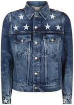 Sandro Embroidered Denim Jacket