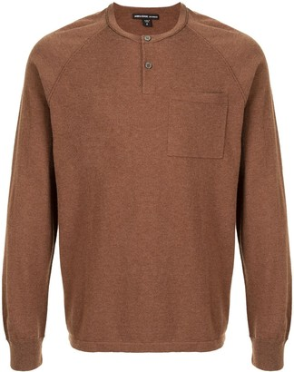 James Perse Front-Button Knitted Jumper