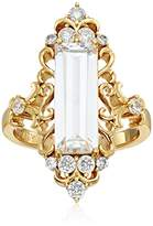 Nicole Miller Scroll Baguette Gold Ring, Size 7