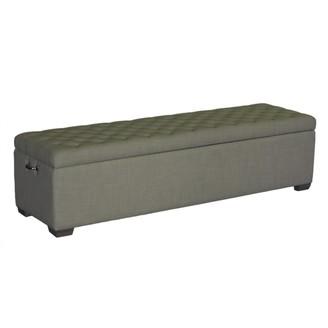 One World Sand Beige Linen Bench Seat