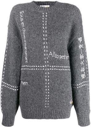 Stella McCartney All Together Now embroidered jumper