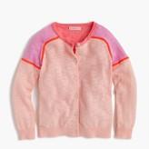 J.Crew Girls' colorblock cardigan sweater