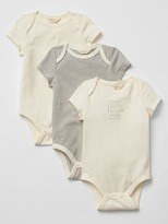 Organic short-sleeve bodysuit (3-pack)
