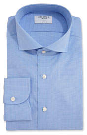 Lorenzo Uomo Men's Glen Plaid Dress Shirt