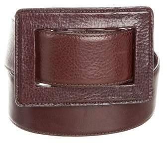 Oscar de la Renta Leather Pull-Through Belt