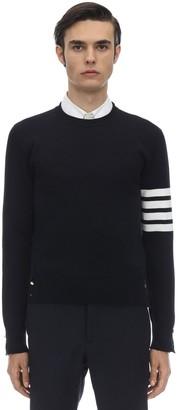 Thom Browne Milano Stitch Knit Cotton Crew Sweater