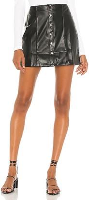 David Lerner Piper A Line Snap Front Skirt