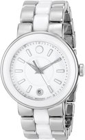 Movado Women's 0606539 Cerena Stainless Steel/ Ceramic Case Watch