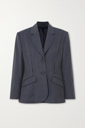 Wright Le Chapelain - Checked Wool Blazer - Dark gray