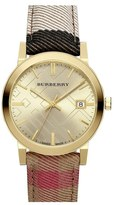 Burberry 'The City' Woven Strap Watch, 38mm