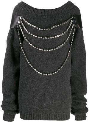 Christopher Kane Oversized Crystal Knit
