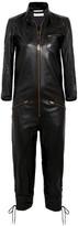 Chloé Lace-up Leather Jumpsuit - Black