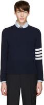 Thom Browne Navy Classic Crewneck Short Pullover