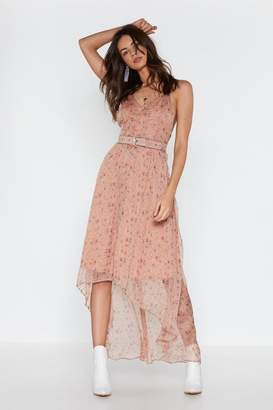 Nasty Gal Womens I Be-Leaf In You Floral Maxi Dress - Beige - 14