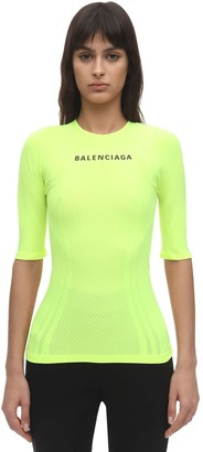 Balenciaga Fitted Stretch Jersey Athletic Top