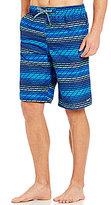 Nike Big & Tall Swift Broken-Stripe Print Volley Swim Trunks