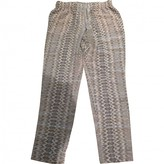 Joie Grey Silk Trousers for Women