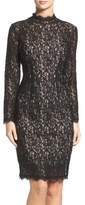 Adrianna Papell Corded Lace Sheath Dress (Regular & Petite)