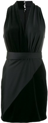 Fausto Puglisi contrast V-neck dress