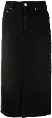 MSGM Denim Pencil Skirt