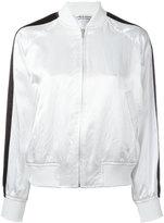 Comme des Garcons stripe sleeve bomber jacket - women - Nylon/Polyester/Polyurethane/Acetate - M