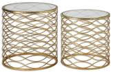 Uttermost Zoa Gold Accent Tables, Set of 2