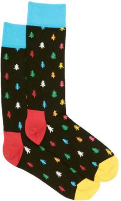 Happy Socks Men's Conifer Tree Socks