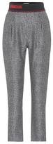 Fendi Cropped wool and silk trousers