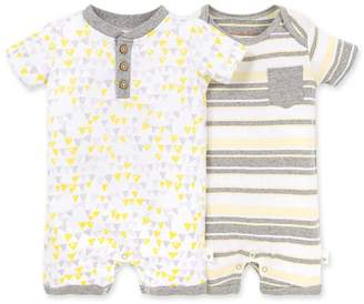Burt's Bees Abstract Bunting Organic Baby Romper 2 Pack