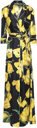 Dolce & Gabbana Floral-print Silk-twill Maxi Shirt Dress