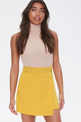 Forever 21 Belted Mini Skirt