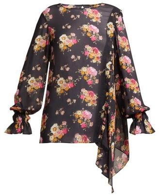 Preen Line Sofia Floral-print Blouse - Womens - Black Print