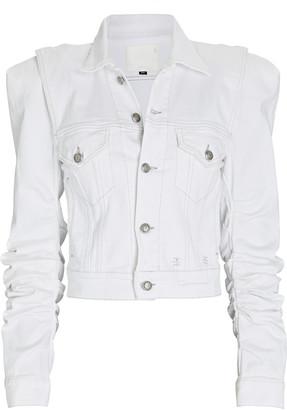 R 13 Kelsey Shirred Denim Jacket