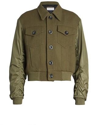 Dries Van Noten Vine Military Wool Jacket