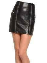 McQ by Alexander McQueen Double Zip Nappa Leather Skirt