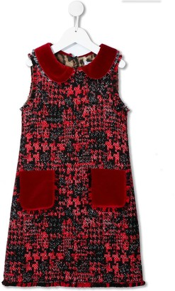 Dolce & Gabbana Tweed Sleeveless Dress