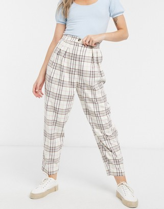 ASOS DESIGN slide suit pants in candy check