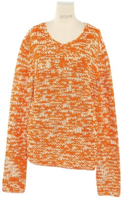 Celine Orange Cotton Knitwear