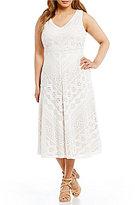 Vince Camuto Plus Lace Midi Dress