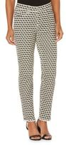 Rafaella Elephant-Print Skinny Ankle Jeans
