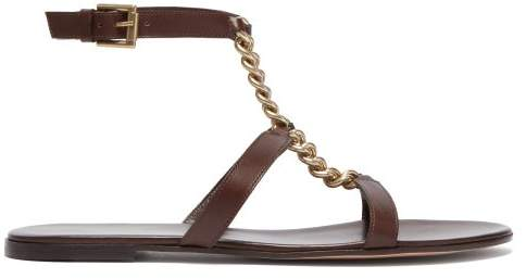 222c8b6ec30 Gianvito Rossi Brown Leather Women s Sandals - ShopStyle