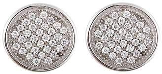 Bony Levy 18K White Gold Pave Diamond Circle Shape Stud Earrings - 0.20 ctw