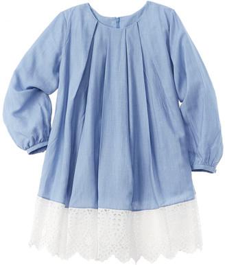 Oscar de la Renta Eyelet Silk-Blend Dress