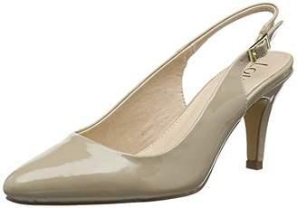 Lotus Women's Lizzie Sling Back Heels, (White Ww), 7 (41 EU)