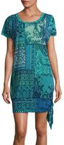 Fuzzi Swim Lace-Print Side Tie Cover-Up