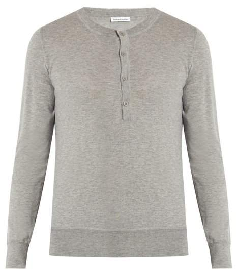 Tomas Maier Fine-knit cashmere henley sweater
