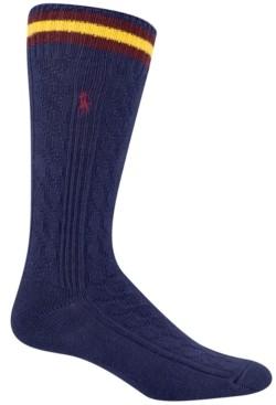 Polo Ralph Lauren Men's Cable Crew Socks